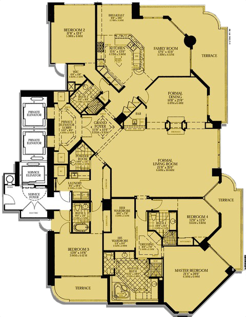 Floor Plan G At Turnberry Place
